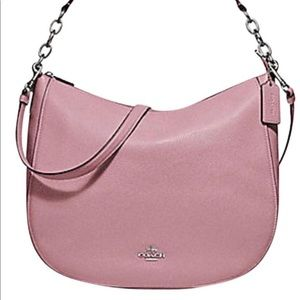 Coach Chelsea Hobo Elle F32 Pink Leather